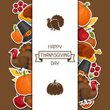 Happy Thanksgiving Day background design with vector illustration