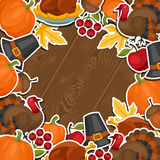 Happy Thanksgiving Day background design with Royalty Free Stock Images
