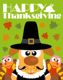 Happy Thanksgiving day background,with dog pilgrim Royalty Free Stock Images