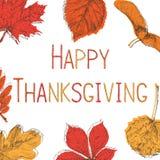 Happy Thanksgiving Day Background. Hand drawn vector illustration stock illustration