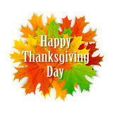 Happy Thanksgiving day background with leaves Royalty Free Stock Images