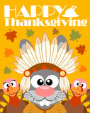 Happy Thanksgiving day background,with rabbit Indian Stock Photography