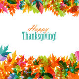 Happy Thanksgiving Day Background with Shiny Stock Photography