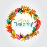 Happy Thanksgiving Day Background with Shiny Stock Image