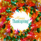 Happy Thanksgiving Day Background with Shiny Royalty Free Stock Images