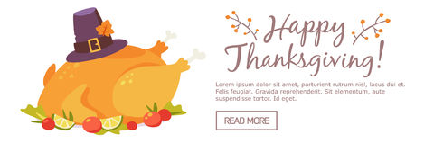 Happy thanksgiving day banner vector illustration
