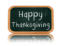 Happy thanksgiving day on blackboard banner Stock Image