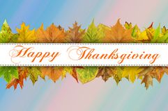 Happy Thanksgiving Day on blue background