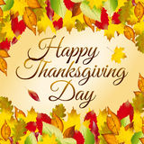 Happy Thanksgiving Day card Stock Photo