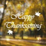 Happy Thanksgiving day card on blur background illustration. vector illustration