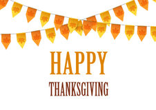 Happy Thanksgiving Day card with bunting flags Royalty Free Stock Photography
