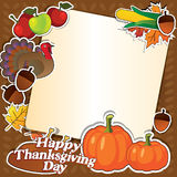 Happy thanksgiving day  card. Happy thanksgiving day  design elements stickers Royalty Free Stock Images