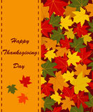 Happy Thanksgiving Day card Stock Photos