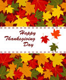 Happy Thanksgiving Day card Stock Image