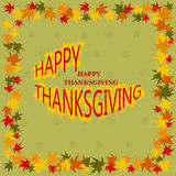 Happy Thanksgiving Day card. Royalty Free Stock Image