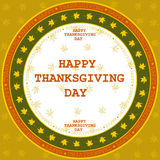 Happy Thanksgiving Day card. Stock Photo
