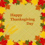 Happy Thanksgiving Day card Royalty Free Stock Photos