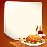 Happy Thanksgiving Day Card. Vector Illustration Stock Images