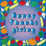Happy thanksgiving day card. Vector Illustration Stock Photos
