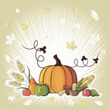 Happy Thanksgiving Day celebration flyer Royalty Free Stock Image