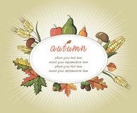 Happy Thanksgiving Day celebration flyer Stock Photography