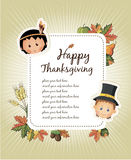 Happy Thanksgiving Day celebration flyer Stock Image