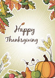 Happy Thanksgiving Day celebration flyer Royalty Free Stock Photo