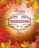 Happy Thanksgiving Day celebrations greeting card design. With background stock illustration