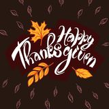 Happy thanksgiving day concept background, hand drawn style vector illustration