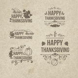 Happy Thanksgiving Day Design Badges Collection  Stock Image