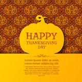 Happy Thanksgiving Day greeting card Stock Photography