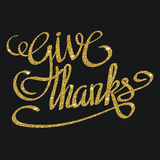 Happy thanksgiving day greeting card with hand lettering Stock Photo