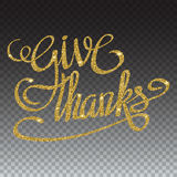 Happy thanksgiving day greeting card with hand lettering Stock Images