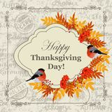 Happy Thanksgiving Day greeting card Royalty Free Stock Photo