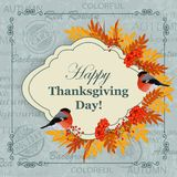 Happy Thanksgiving Day greeting card Royalty Free Stock Photos