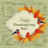 Happy Thanksgiving Day greeting card Royalty Free Stock Image