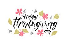 Happy Thanksgiving Day - hand lettering, typography vector design vector illustration