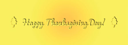 Happy Thanksgiving day illustration banner with leaves Stock Photos