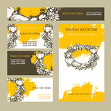 Happy Thanksgiving Day. Invitation cards Stock Photography