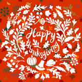 Happy Thanksgiving day leaves banner Royalty Free Stock Images