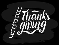 Happy Thanksgiving Day lettering royalty free illustration