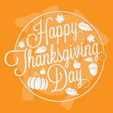 Happy Thanksgiving Day lettering Royalty Free Stock Images