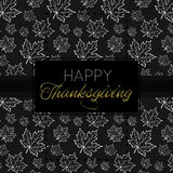 Happy Thanksgiving Day logo template. Happy Thanksgiving Day logotype, badge and icon. Happy Thanksgiving Day logo template. Thanksgiving Day card template Stock Photography