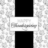 Happy Thanksgiving Day logo template. Happy Thanksgiving Day logotype, badge and icon. Happy Thanksgiving Day logo template. Thanksgiving Day card template Royalty Free Stock Images
