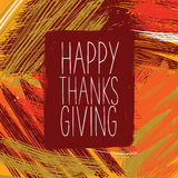 Happy Thanksgiving Day. Logotype with autumn colors. Happy Thanksgiving banner, flyer. Vector illustration Stock Photo