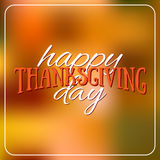 Happy Thanksgiving Day logotype, badge and icon on colorful back. Ground. Thanksgiving Day card template. Happy Thanksgiving logo, banner, flyer, poster Royalty Free Stock Images