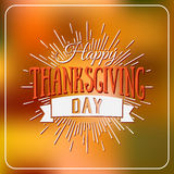 Happy Thanksgiving Day logotype, badge and icon on colorful back. Ground. Thanksgiving Day card template. Happy Thanksgiving logo, banner, flyer, poster Royalty Free Stock Photos