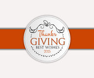 Happy Thanksgiving Day logotype, badge and icon Royalty Free Stock Photos