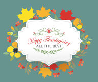 Happy Thanksgiving Day logotype, badge and icon Stock Photo