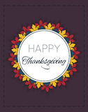 Happy Thanksgiving Day logotype. Badge and icon. Happy Thanksgiving Day logo template. Thanksgiving Day card template. Vector Illustration. EPS 10 Stock Image